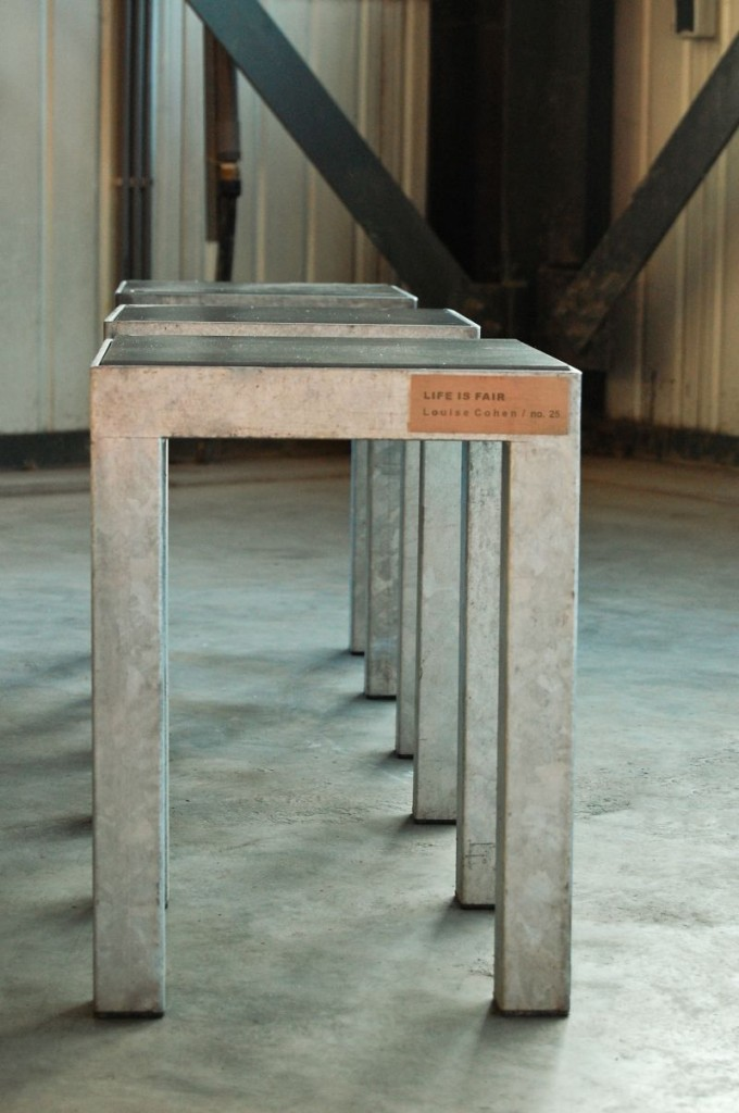 Louise Cohen LIFE IS FAIR stools 800